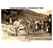 TOUR DE FRANCE; Vintage Frozen in Time Advertising Photo Photographic Print