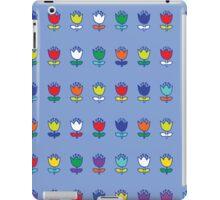 Little tulips - multi on light blue iPad Case/Skin