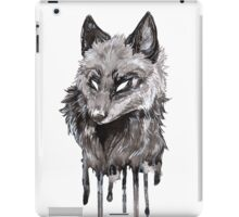 Silver Fox Dripping Ink iPad Case/Skin