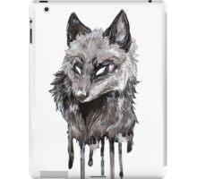 Silver Fox Dripping Ink iPad Case/Skin