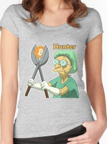 Bitcoin_Hunter Women's Fitted Scoop T-Shirt