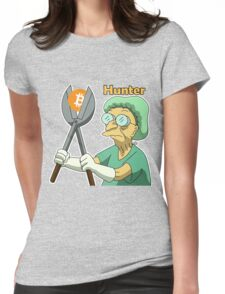 Bitcoin_Hunter Womens Fitted T-Shirt
