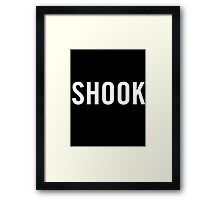 Shook (White) Framed Print