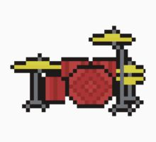 Yet Another Drumset - Pixels One Piece - Short Sleeve