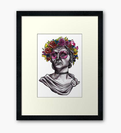 Ancient Hippie Framed Print