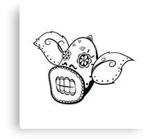 Weepinbell de los Muertos   Pokemon & Day of The Dead Mashup Canvas Print