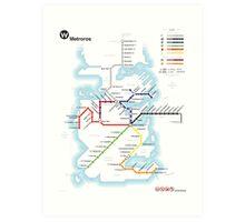 Game of Thrones - Metroros System Map Art Print