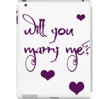 marriage proposal iPad Case/Skin