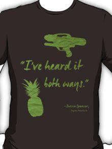 I've heard it both ways. T-Shirt