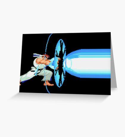 Ryu Fireball  Greeting Card