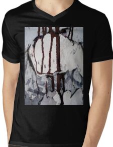 Dripping paint Mens V-Neck T-Shirt