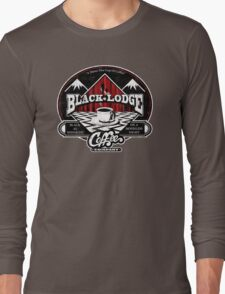 Black Lodge Coffee Company (distressed) Long Sleeve T-Shirt