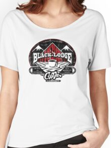 Black Lodge Coffee Company (distressed) Women's Relaxed Fit T-Shirt