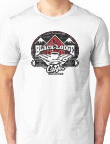 Black Lodge Coffee Company (distressed) Unisex T-Shirt