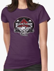 Black Lodge Coffee Company (distressed) Womens T-Shirt