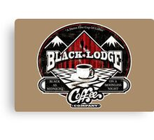 Black Lodge Coffee Company (distressed) Canvas Print