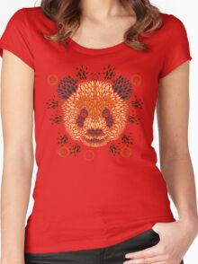 Panda Face Women's Fitted Scoop T-Shirt