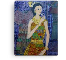 painting of a balinese woman  Canvas Print