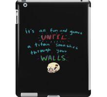 Wall saying iPad Case/Skin