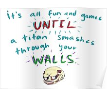 Wall saying Poster