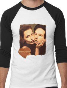 Gillian and David - The Schmoopies Men's Baseball ¾ T-Shirt