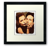 Gillian and David - The Schmoopies Framed Print