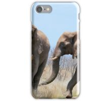 CONFRONTATIONS -  THE AFRICAN ELEPHANT – Loxodonta Africana iPhone Case/Skin