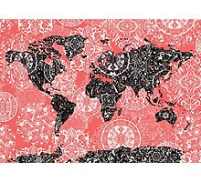 world map mandala 2 Photographic Print
