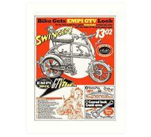 VW hotrod parts dream bike Art Print