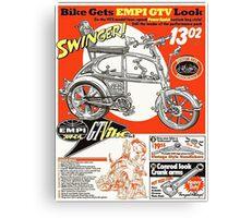 VW hotrod parts dream bike Canvas Print