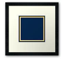 Dark Blue White and Yellow-Gold Framed Print