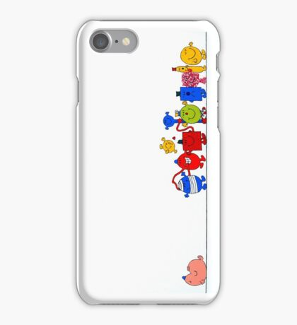 mr. men acrylic painting iPhone Case/Skin