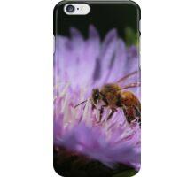 Bee on purple flower iPhone Case/Skin