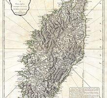 Vintage Map of Corsica (1794)  by BravuraMedia