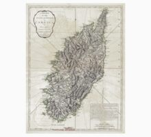 Vintage Map of Corsica (1794)  T-Shirt