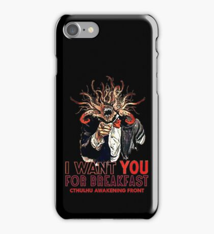 Cthulhu breakfast iPhone Case/Skin
