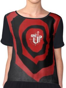 One Up Gaming Podcast Logo Chiffon Top