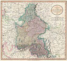Vintage Map of Bavaria Germany (1799) by BravuraMedia