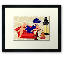 Relaxed on a Couch (7748  Views) Framed Print