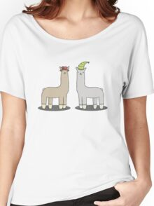 llamas with hats Women's Relaxed Fit T-Shirt