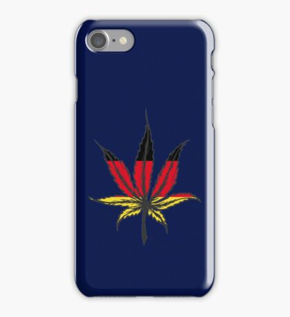 Cannabis (marijuana) leaf flat icon, iPhone Case/Skin