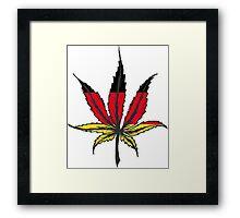 Cannabis (marijuana) leaf flat icon, Framed Print