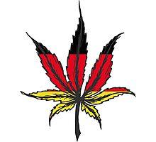 Cannabis (marijuana) leaf flat icon, Photographic Print