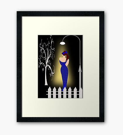 A lady returning from a party/Curve pattern  (7713 Views) Framed Print