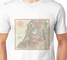 Vintage Map of The Netherlands (1799) Unisex T-Shirt