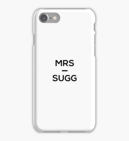 Mrs Sugg - Joe Sugg (ThatcherJoe) iPhone Case/Skin