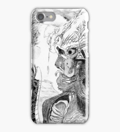 Human with animals iPhone Case/Skin