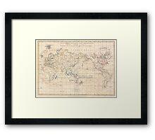 Vintage Map of The World (1799) Framed Print