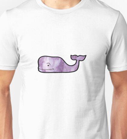 Purple Marble Whale Unisex T-Shirt