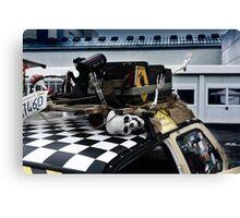 human skeleton, car tuning Canvas Print